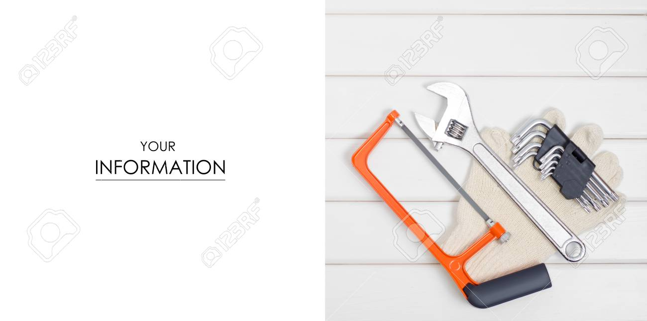 A do it yourself tools isolated on a white wooden background stock a do it yourself tools isolated on a white wooden background stock solutioingenieria Gallery