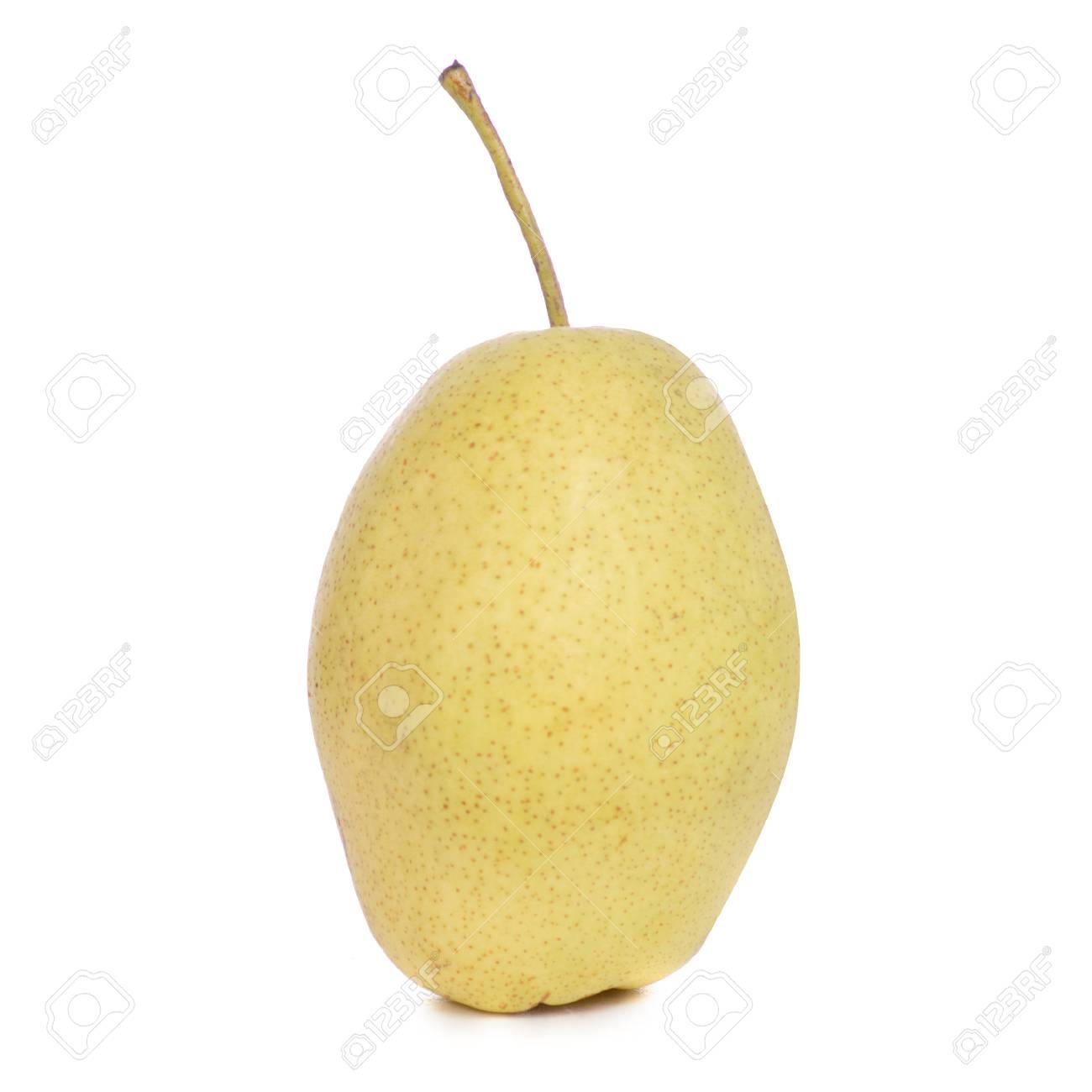 Fruit Hybrid Apple Pear On White Background Isolation Stock Photo
