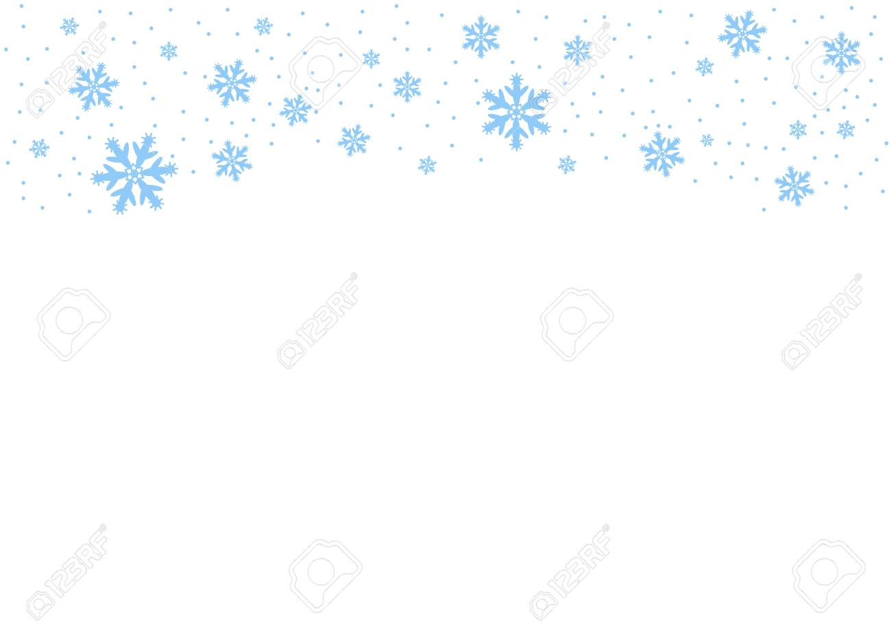 Vector falling blue snow on isolated background, possibility of overlay. Place for text. Winter, Christmas texture. Eps. - 126864387
