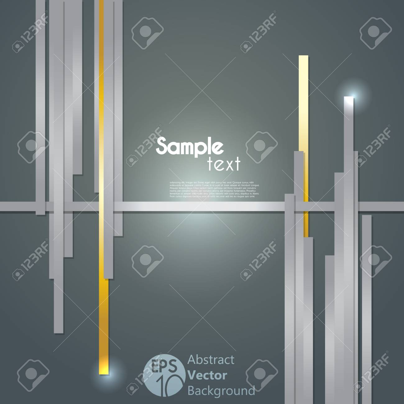 Overlapping Thick Lines Concept Illustration Stock Vector - 15361516