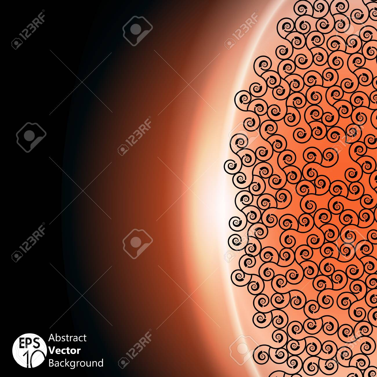 Space background with orange light Stock Vector - 15903493