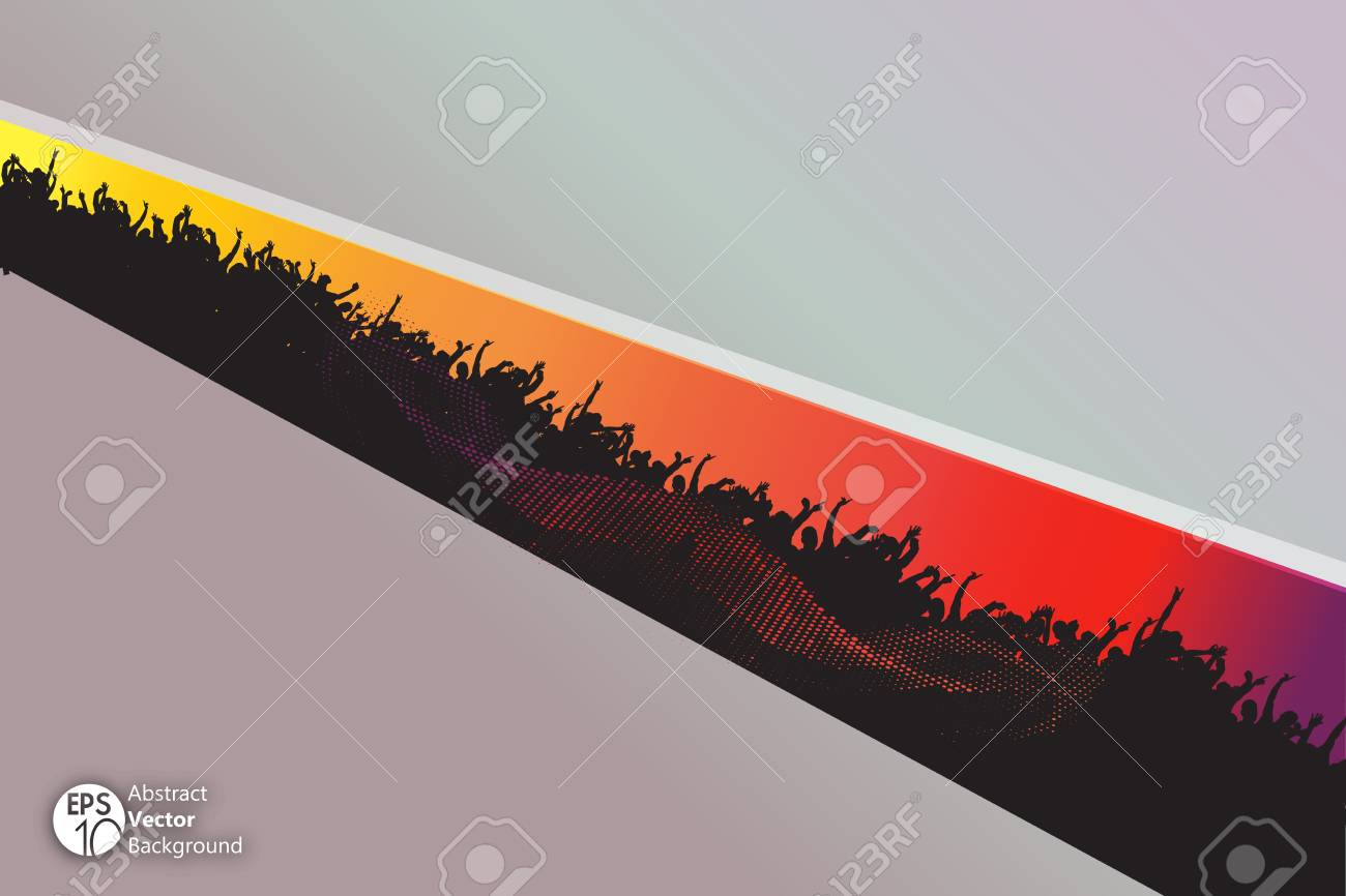 Abstract vector background with crowd Stock Vector - 17389877