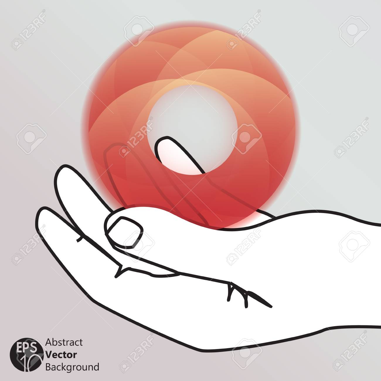 hand holding a circle icon, isolated vector symbol Stock Vector - 17777039