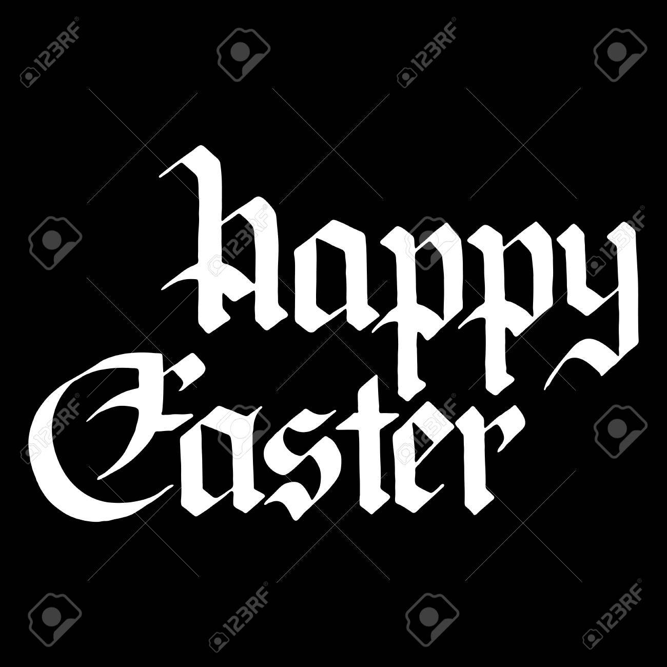 Greeting cards for happy easter lettering in gothic style vector greeting cards for happy easter lettering in gothic style vector illustration on a black kristyandbryce Images