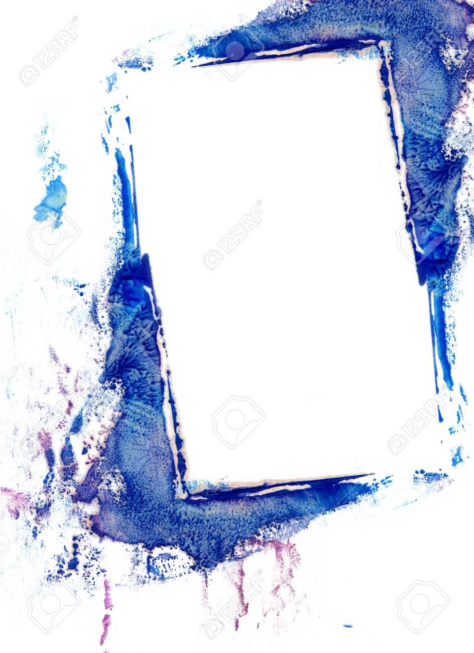 Umrahmen Ein Aquarell Auf Weißem Hintergrund Lizenzfreie Fotos ...