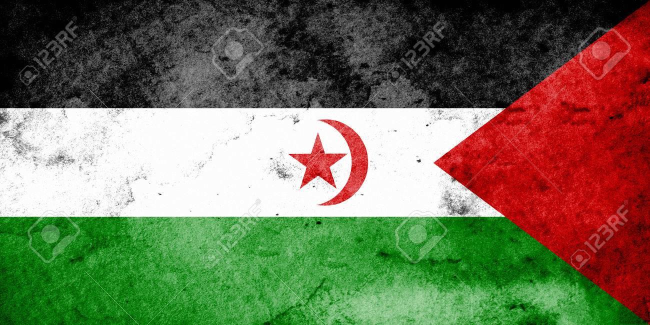 La Bandera De La República Árabe Saharaui Democrática Es Una ...