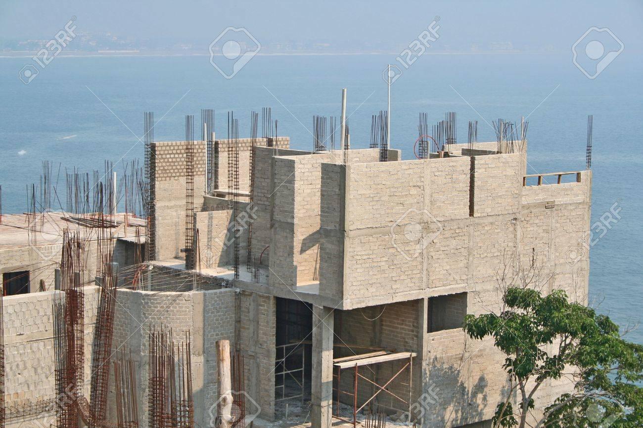 luxury ocean front property under construction Stock Photo - 2160461
