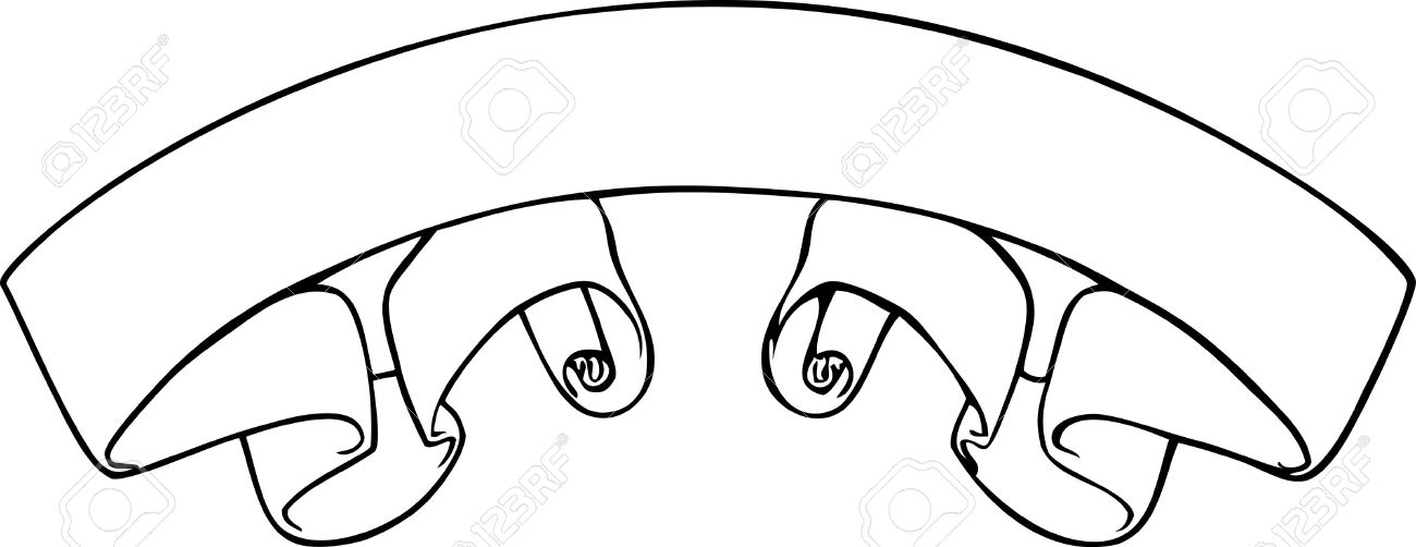 vector black and white scroll banner royalty free cliparts vectors