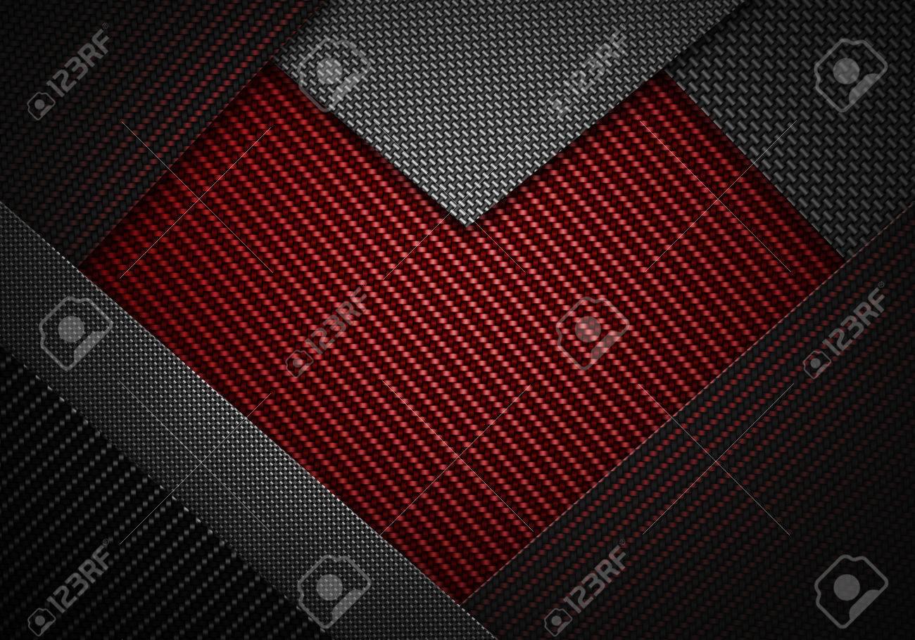 抽象モダンな赤黒炭素繊維がバレンタインの日に背景 壁紙