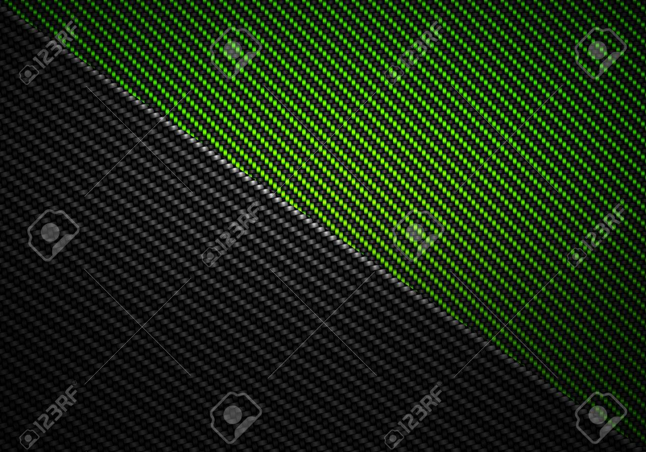 Abstract modern green black carbon fiber textured material design for background, wallpaper, graphic design