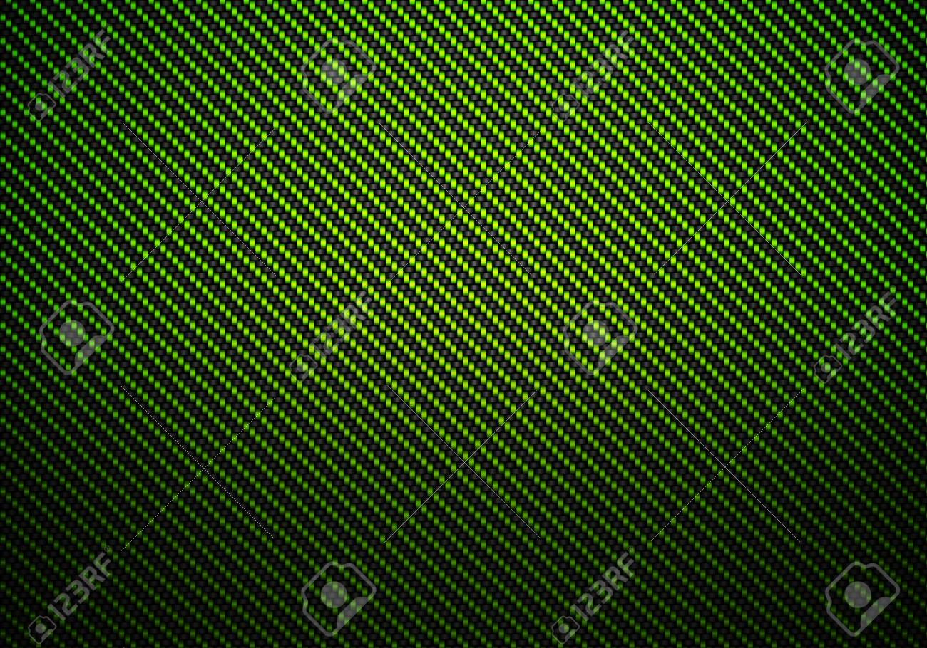 Abstract modern green carbon fiber textured material design for background, wallpaper, graphic design Stock