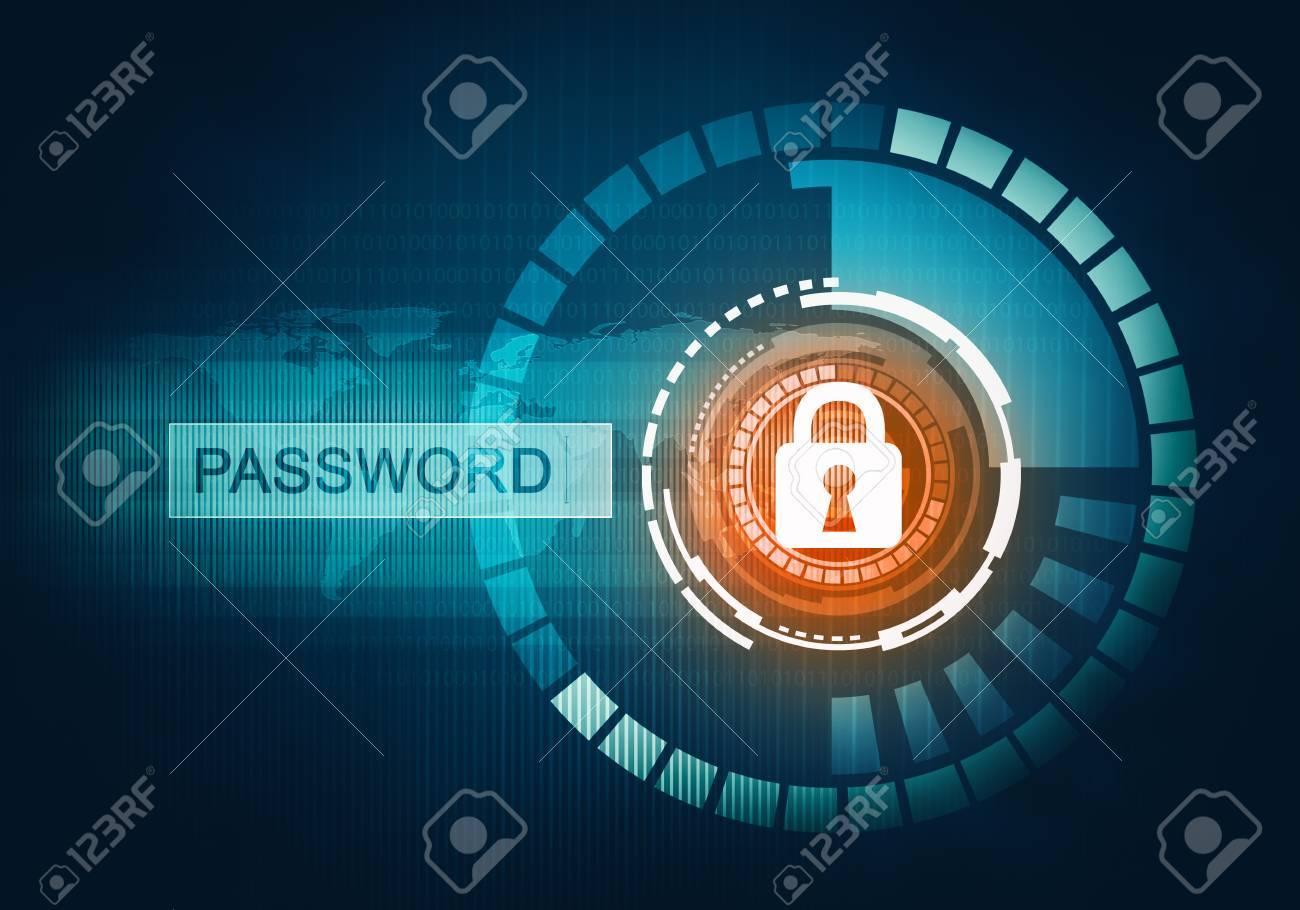 デジタル抽象的な概念は パスワード インター ネット データ