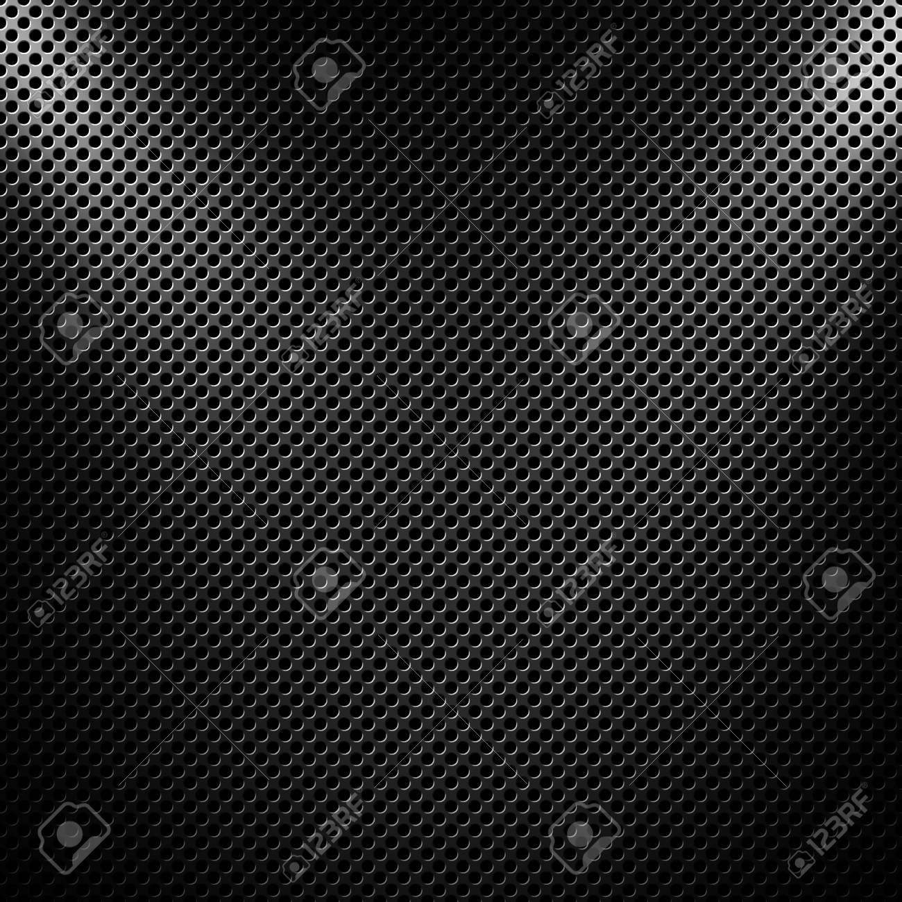 Abstract Modern Grey Perforated Metal Plate Textured Material