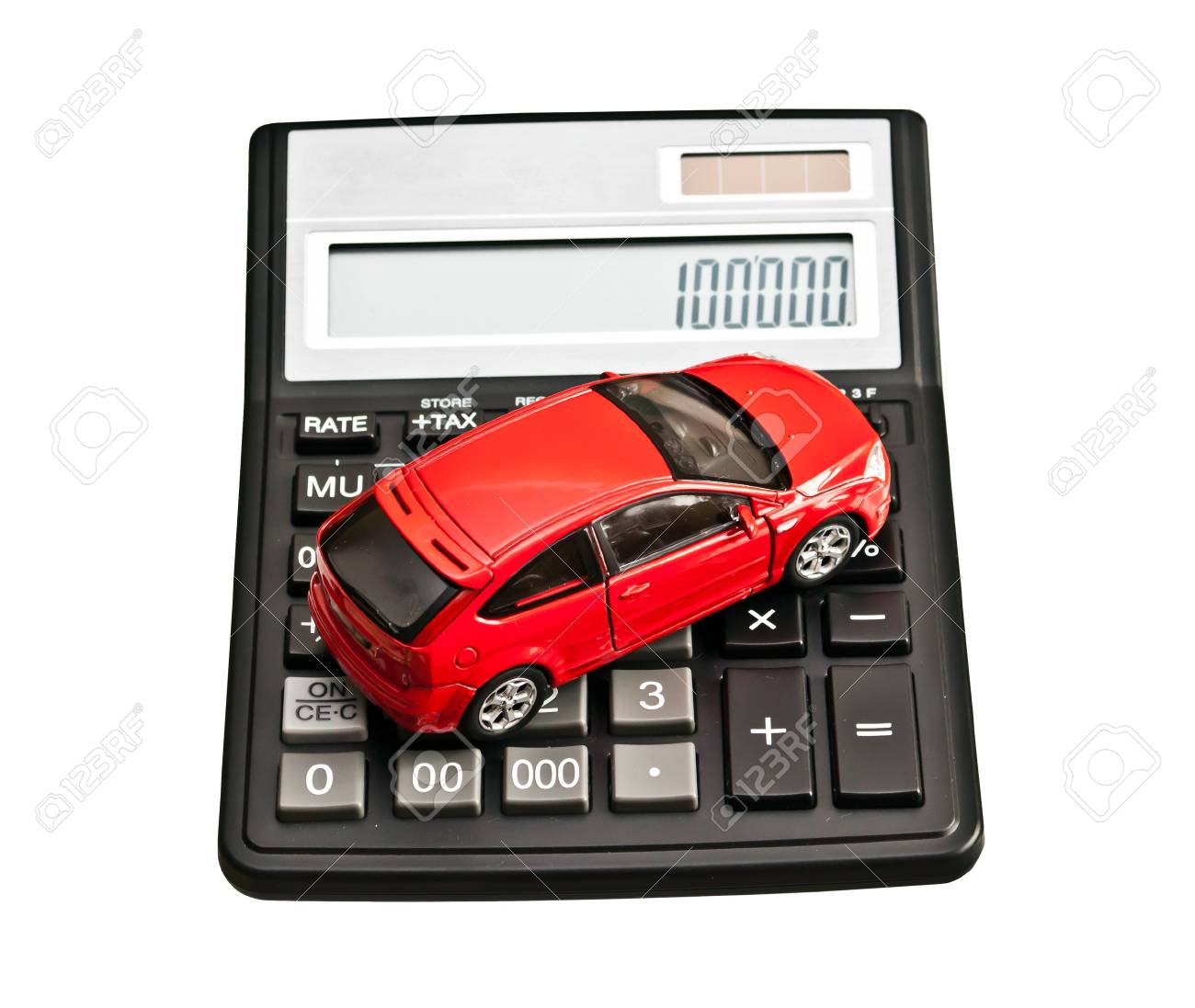 Car And Calculator Concept For Buying Renting Insurance Fuel