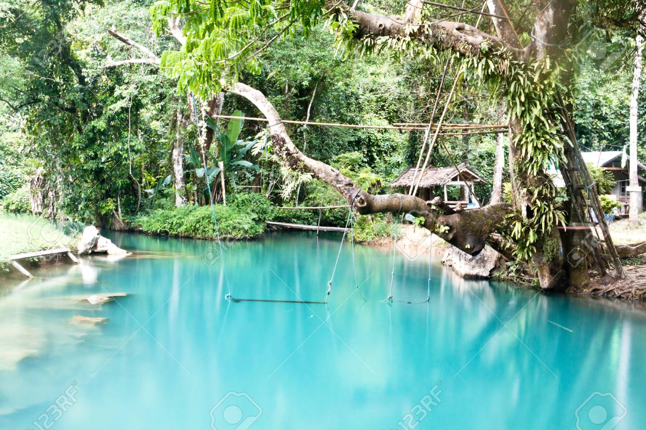 Blue Lagoon In Vang Vieng Laos Stock Photo Picture And Royalty Free Image Image 34782890