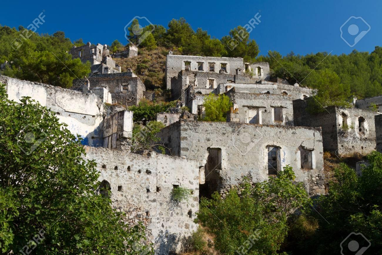 Ruins of Kayakoy, Fethiye Stock Photo - 21627610