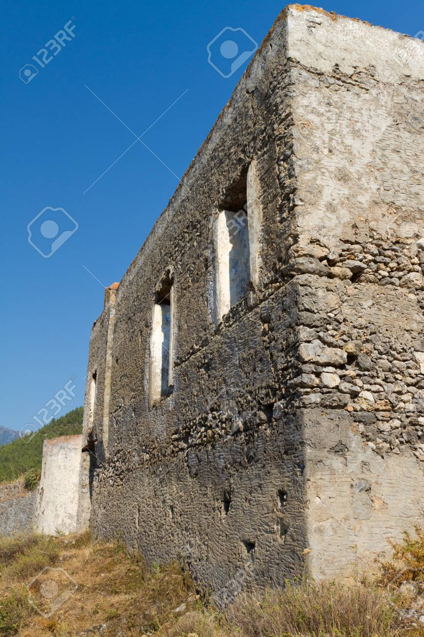 Ruined house from Kayakoy, Fethiye Stock Photo - 21664634