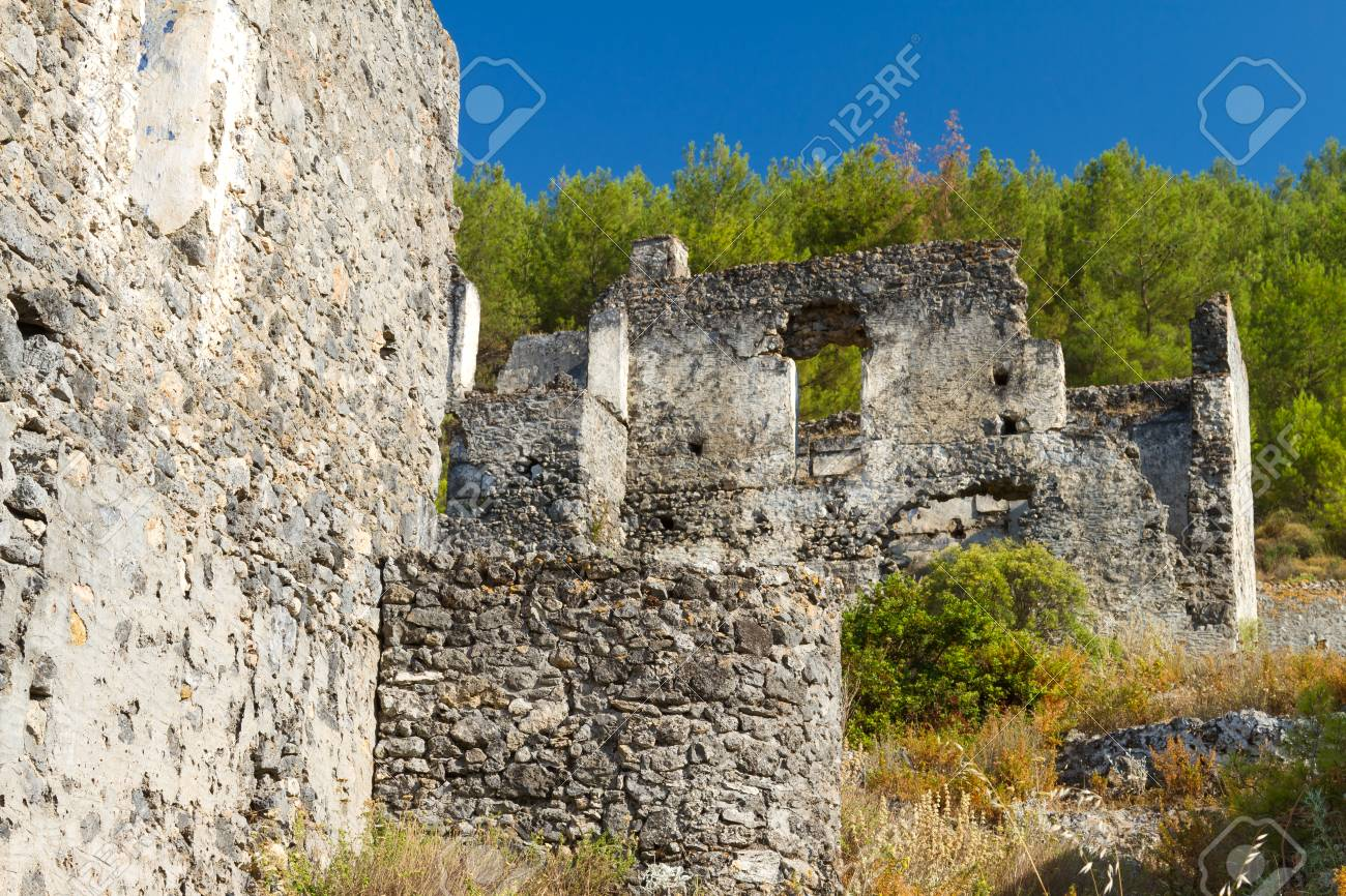 Ruins of Kayakoy, Fethiye Stock Photo - 22719201