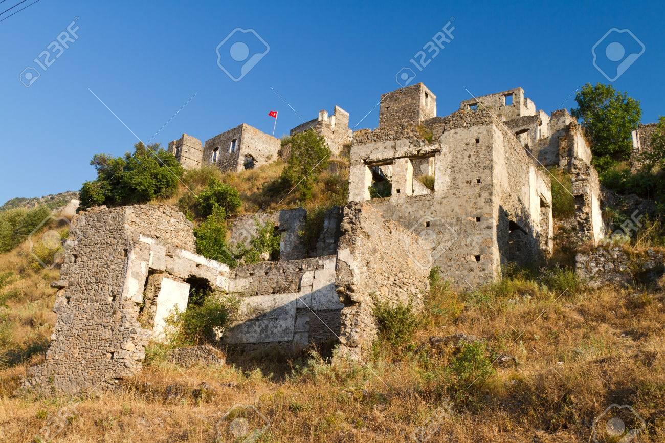 Ruins of Kayakoy, Fethiye Stock Photo - 22766873
