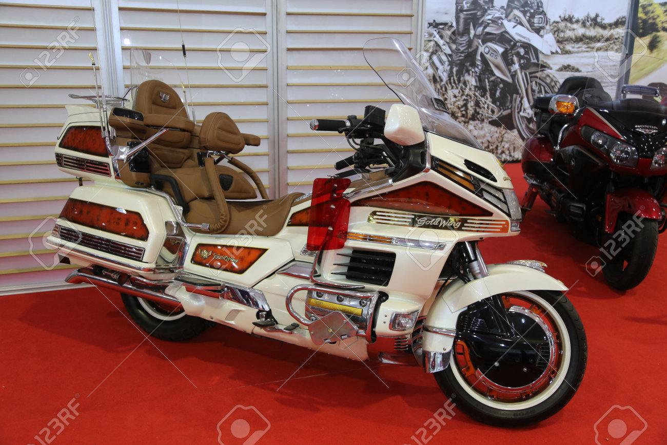2016 Honda Goldwing >> Istanbul Turkey February 25 2016 Honda Goldwing On Display