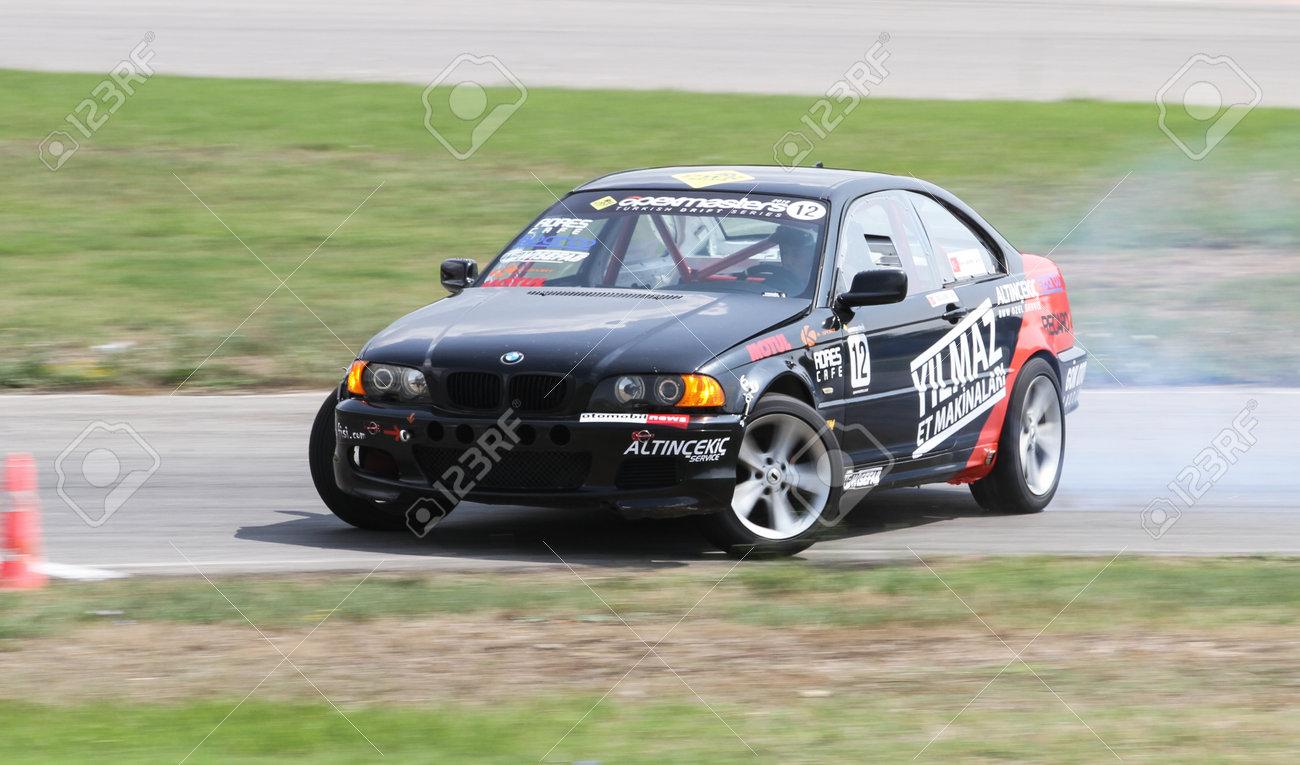 Izmit Turkey August 28 2016 Bora Akinci Drives Bmw E46 Of