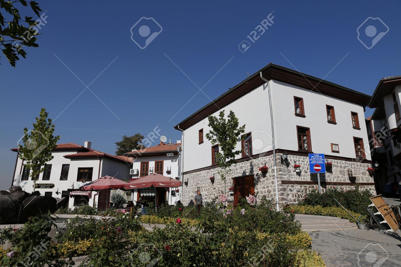 ankara turkey october 22 2016 traditional turkish houses in ankara castle - Traditional Castle 2016