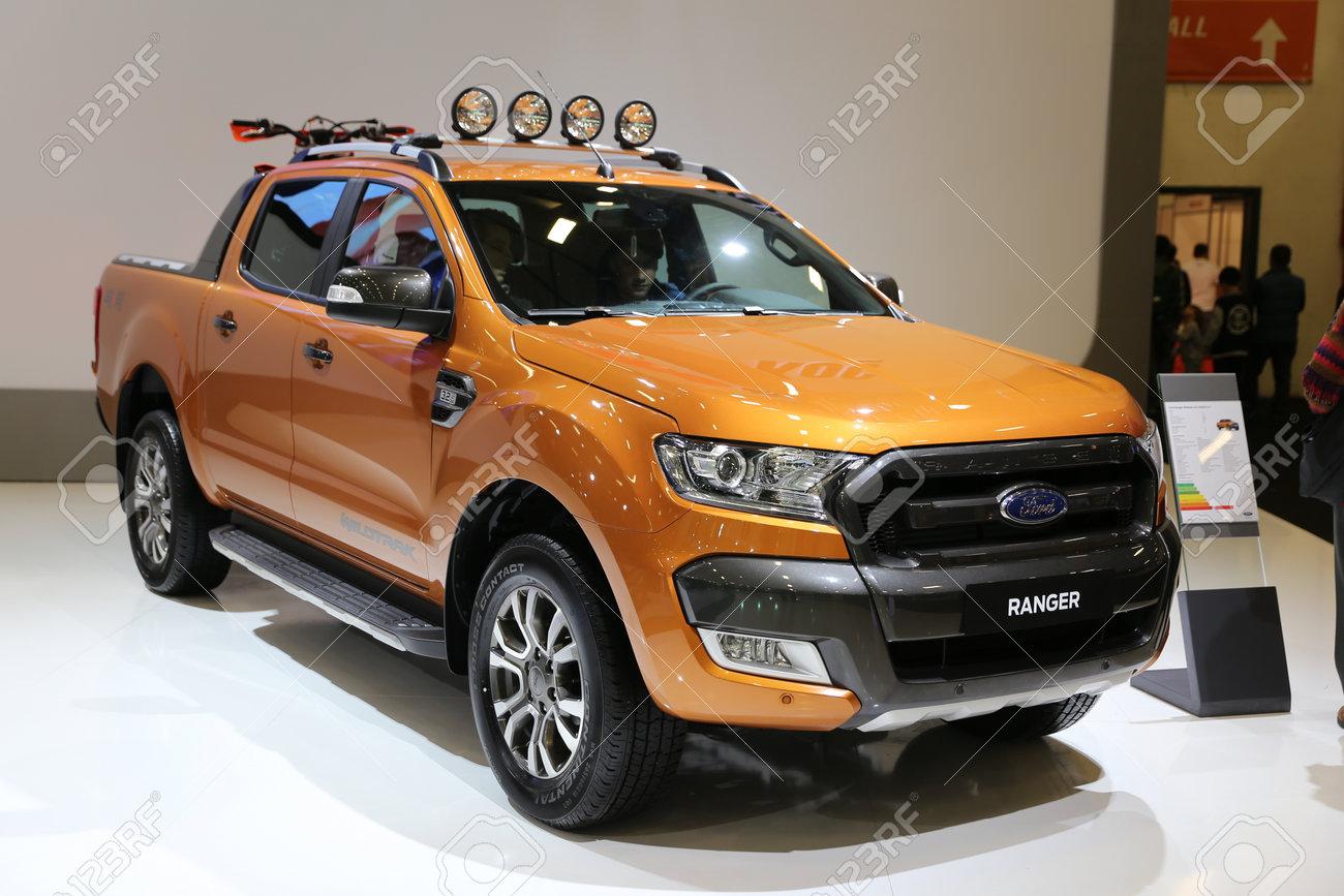 2017 Ford Ranger >> Istanbul Turkey April 22 2017 Ford Ranger On Display At