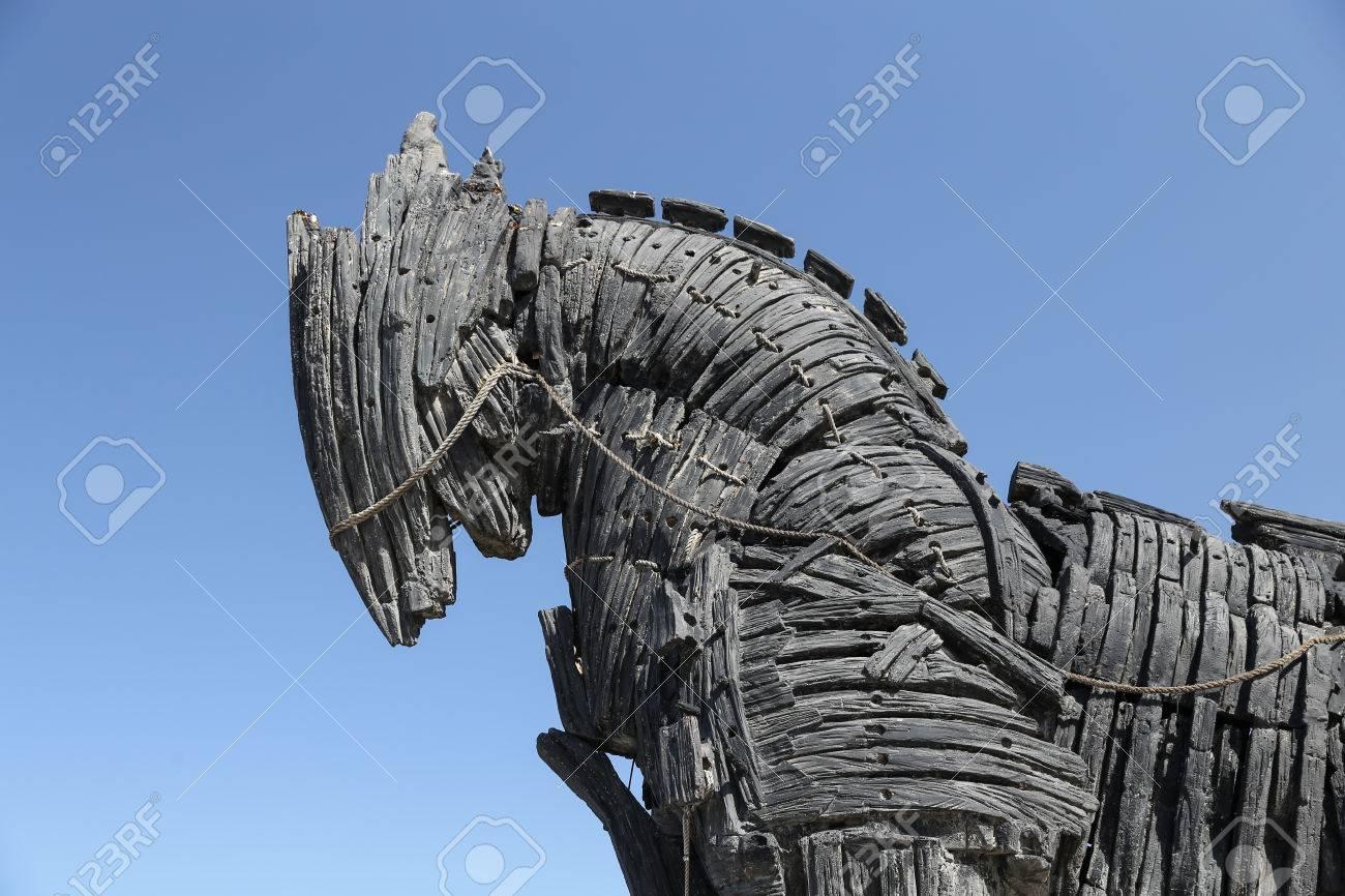 Trojan Horse in movie Troy in Canakkale City, Turkey