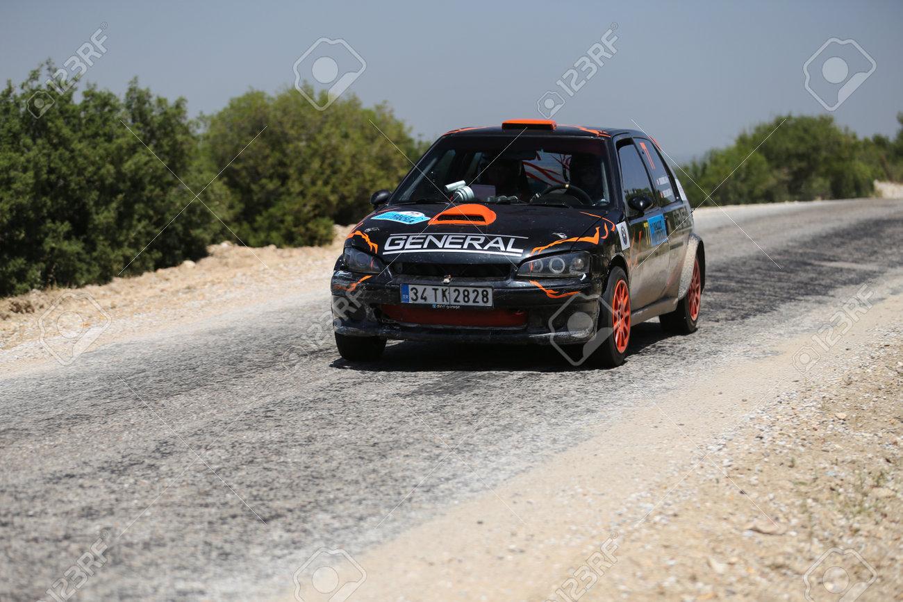 Canakkale Turkey July 02 2017 Uygar Bilgili Drives Peugeot Stock Photo Picture And Royalty Free Image Image 89569156
