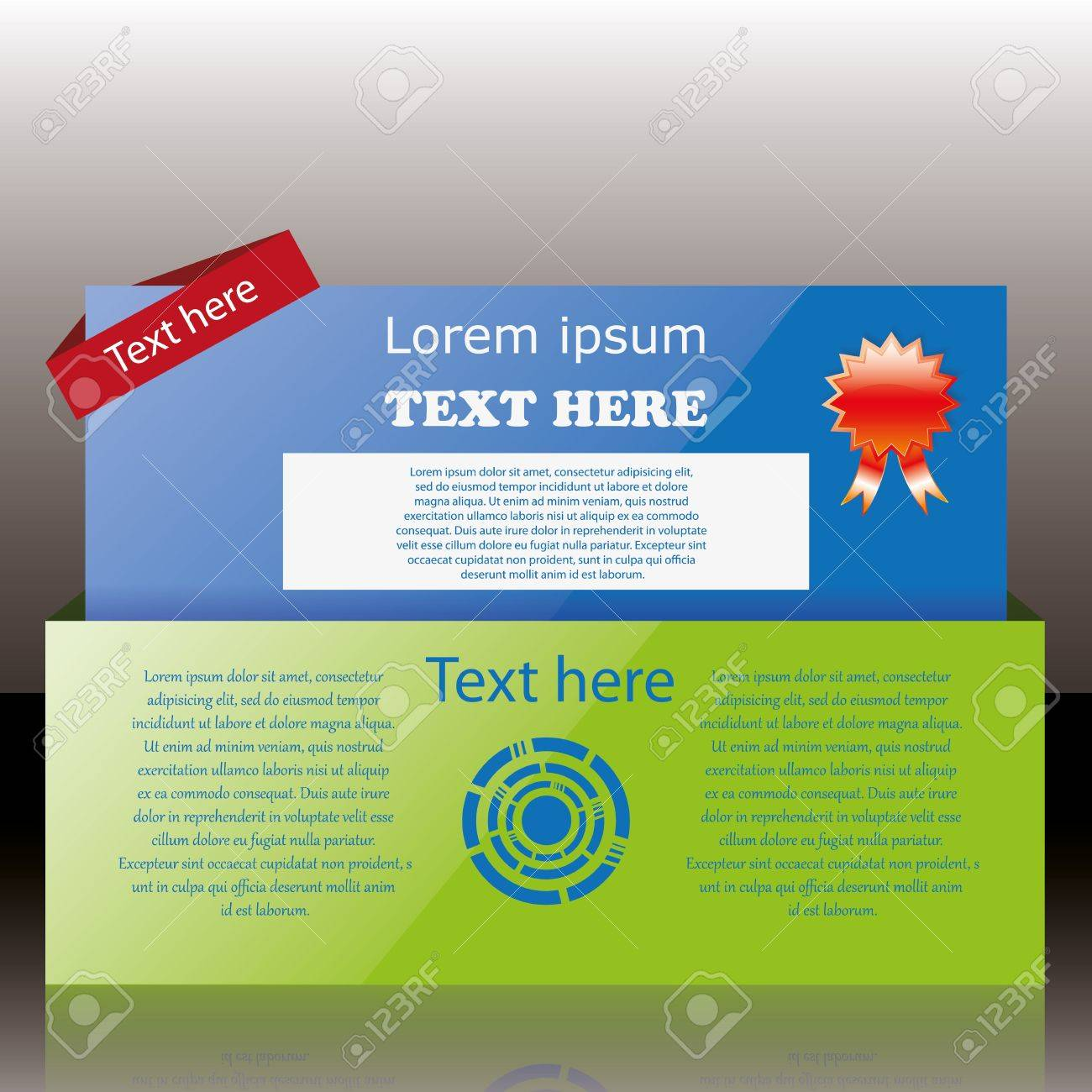 Modern web card login form Stock Vector - 14813918