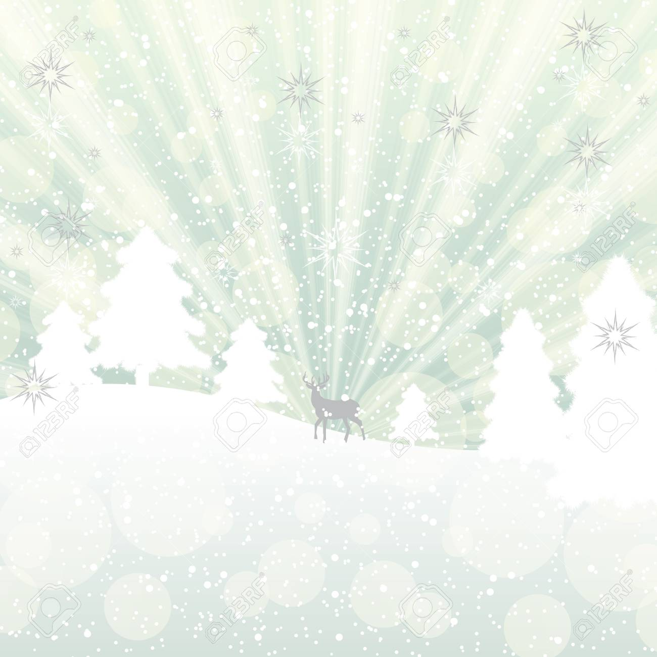 Abstract winter background with pine Stock Vector - 16317336