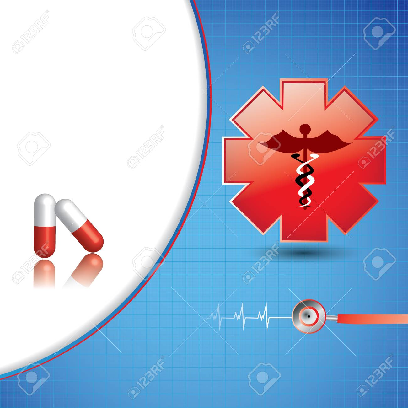 Abstract medical background Stock Vector - 16855982