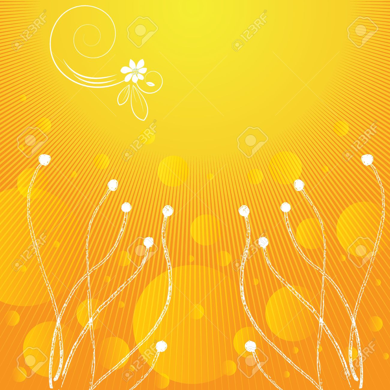 Summer abstract background yellow Stock Vector - 17741203