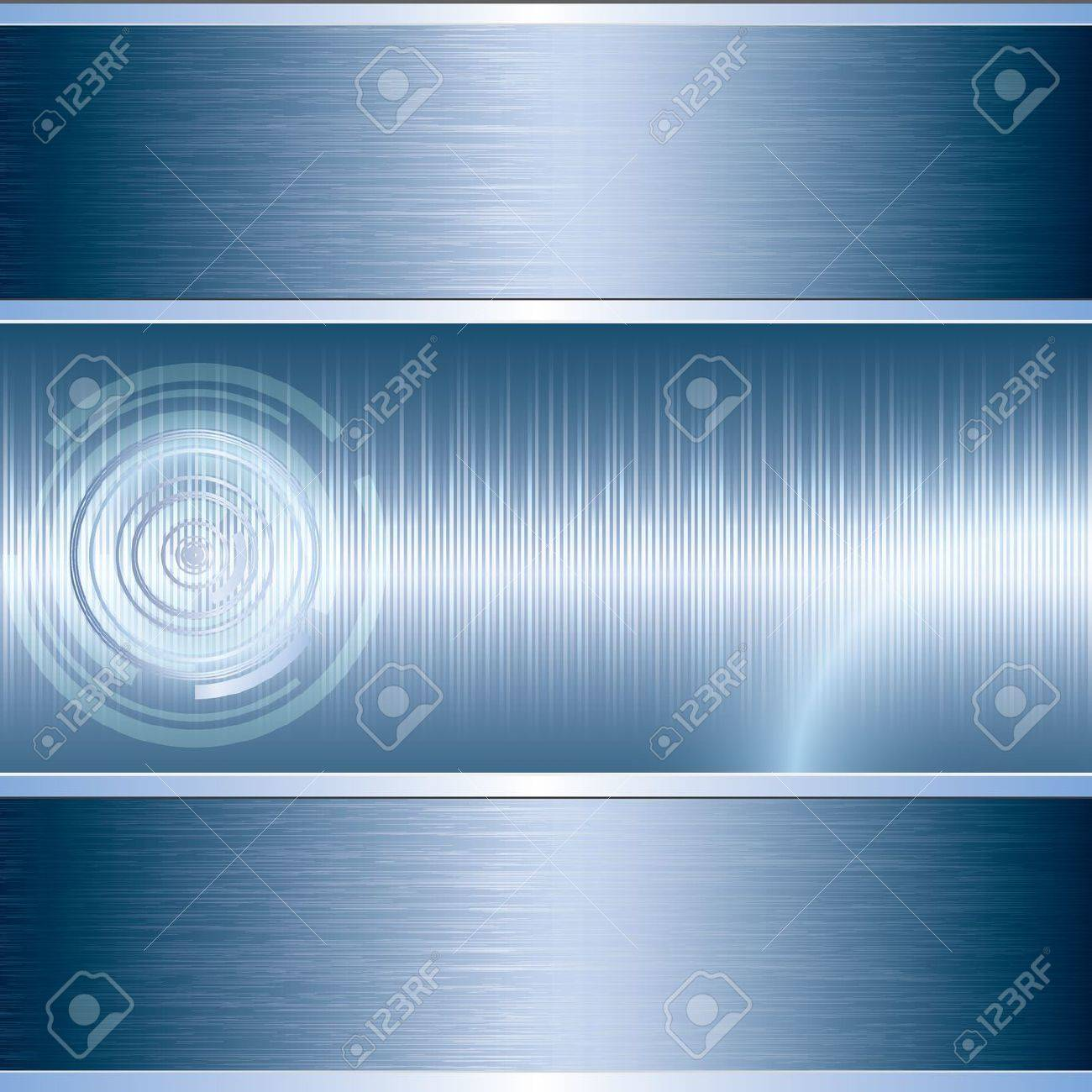 Blue abstract tech metal background Stock Vector - 17923616