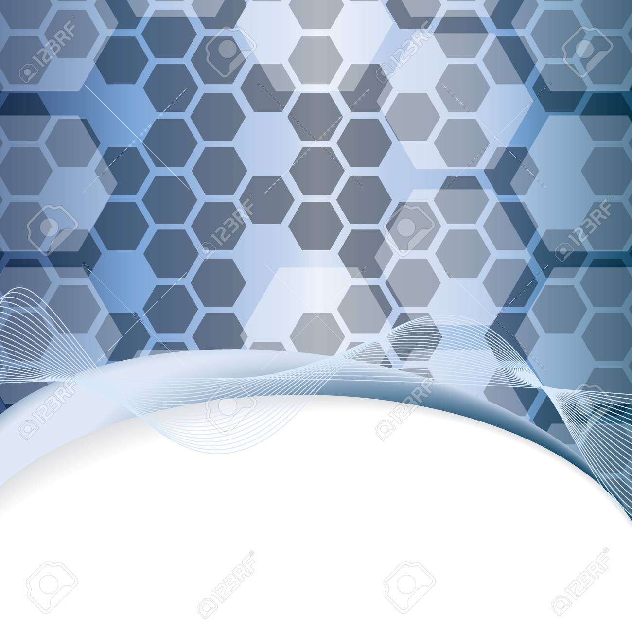 Blue abstract tech metal background Stock Vector - 17923622
