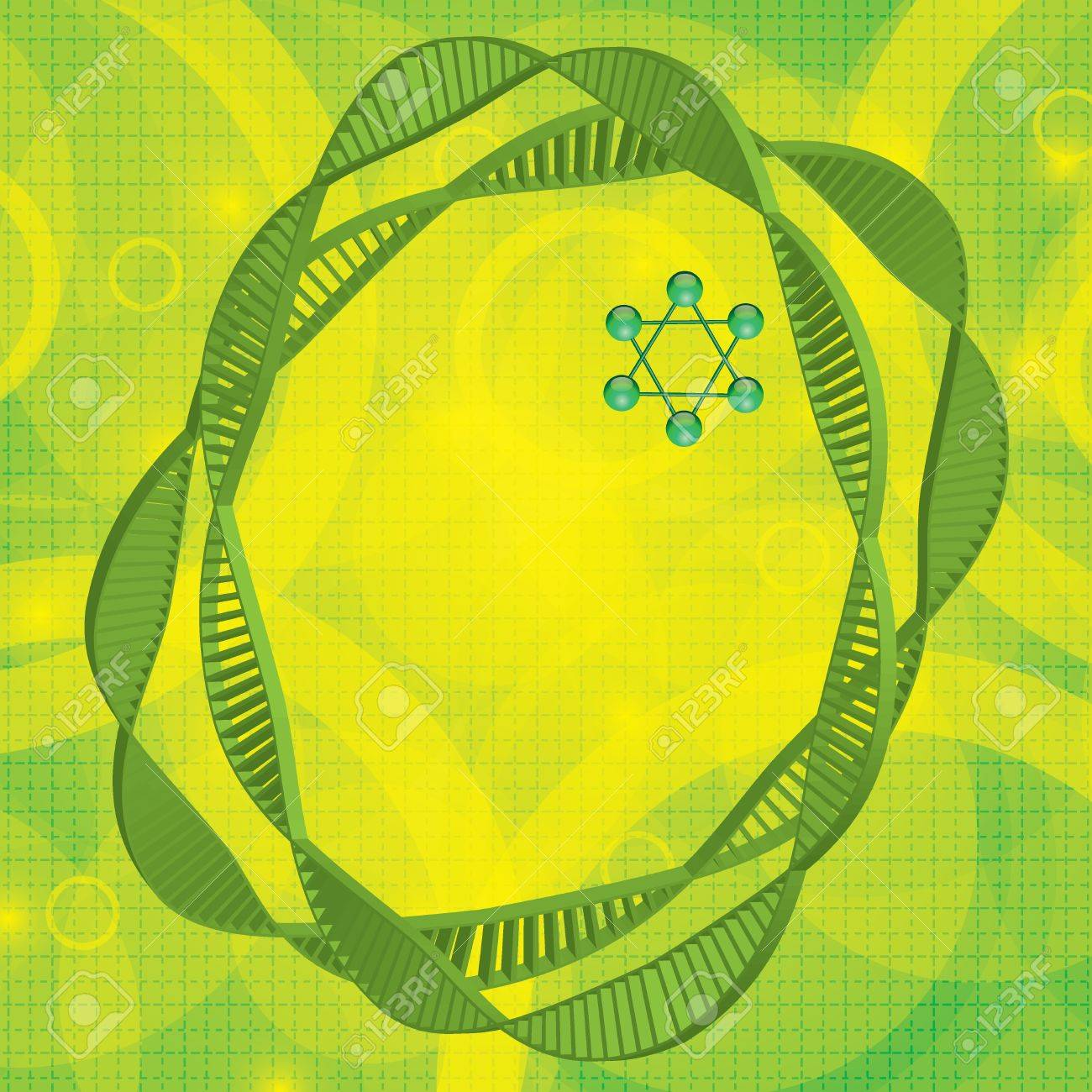 Abstract DNA green background Stock Vector - 19973681