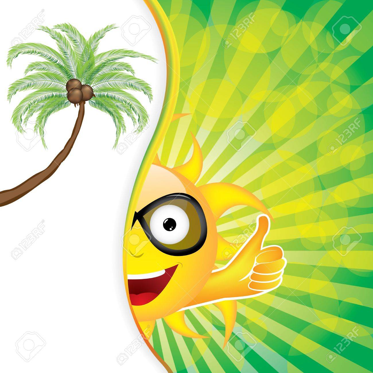 Summer day background with palms Stock Vector - 21070272