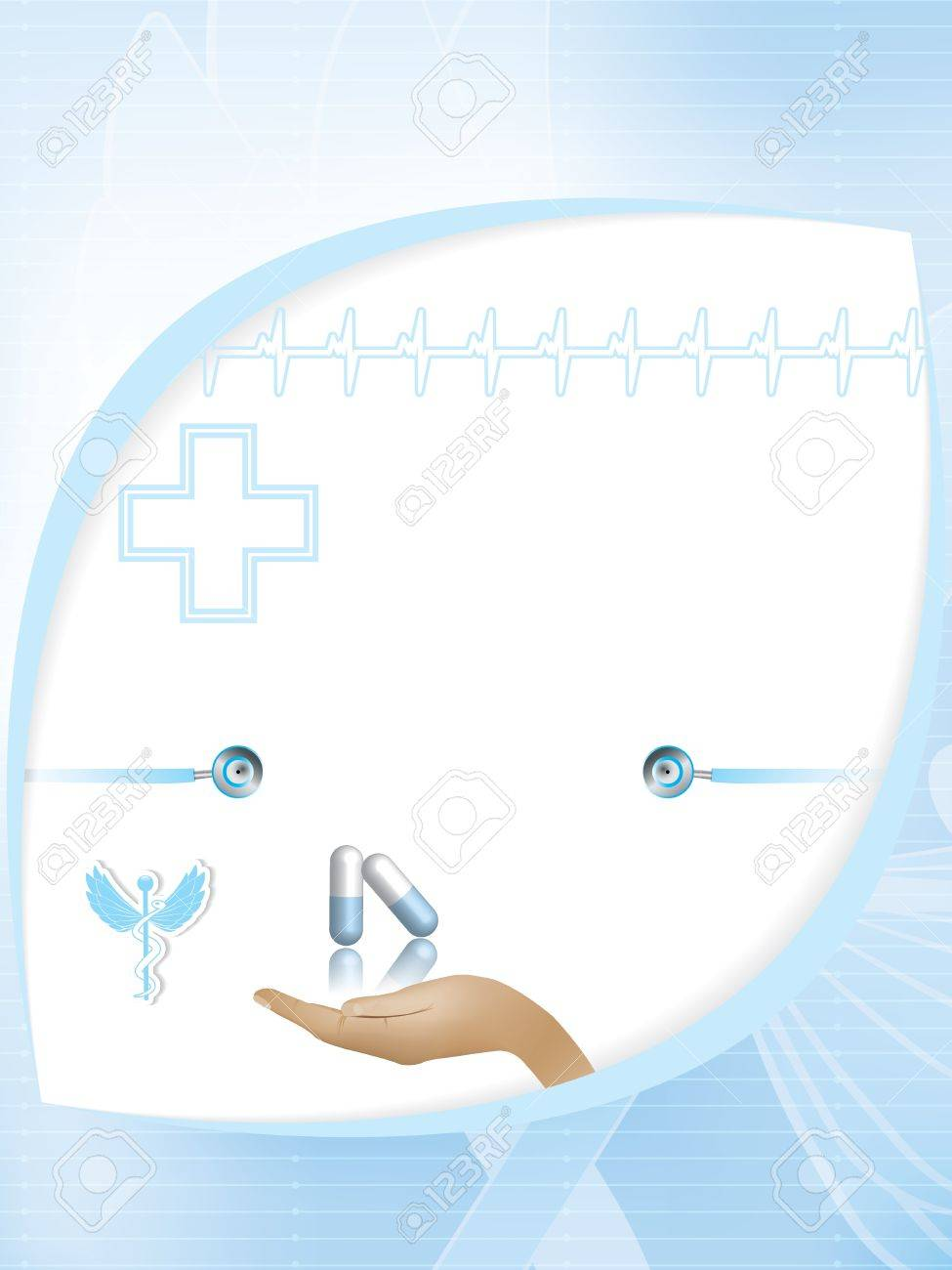 Abstract blue medical design template Stock Vector - 21777557