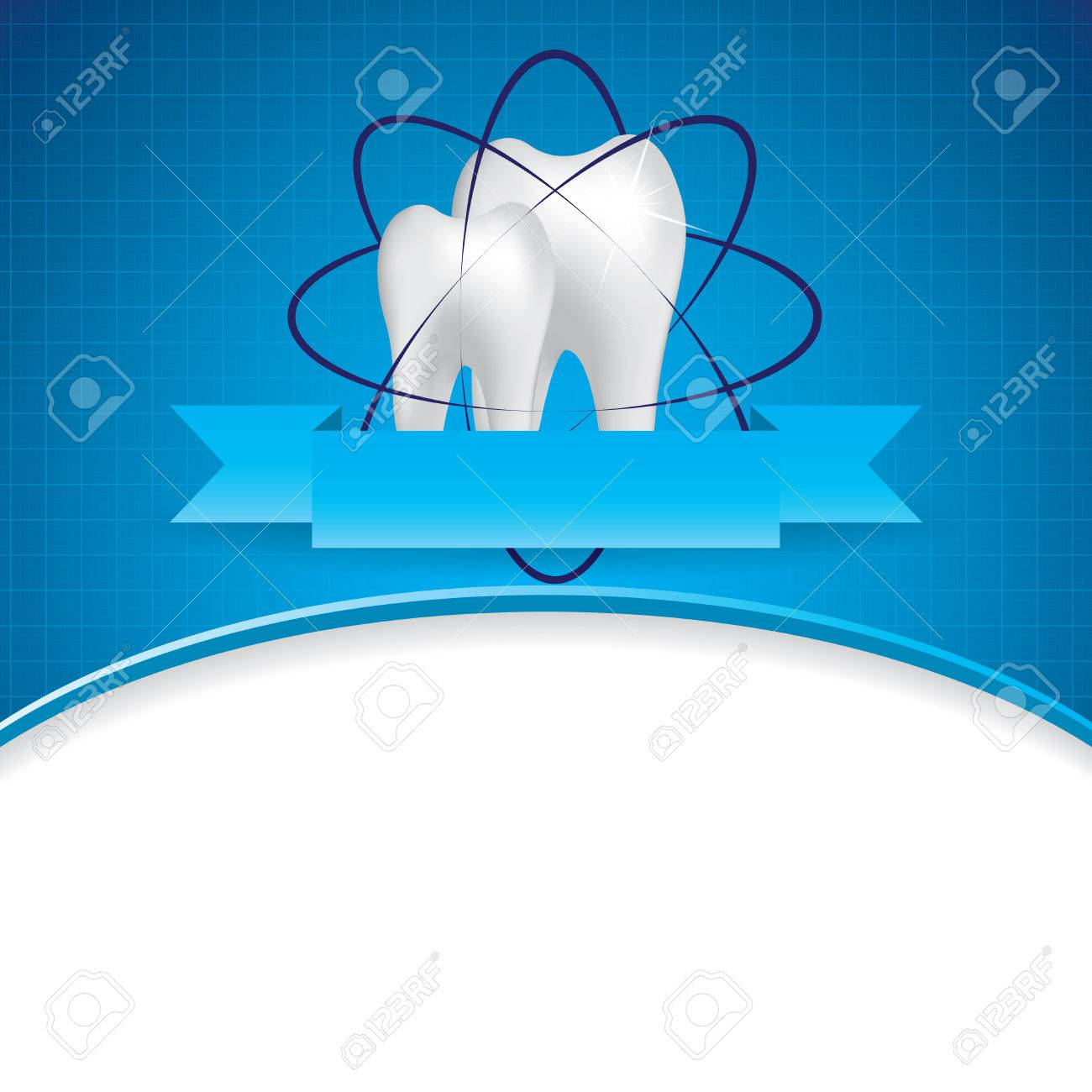 Abstract vector dental illustration of teeth Stock Vector - 22444680