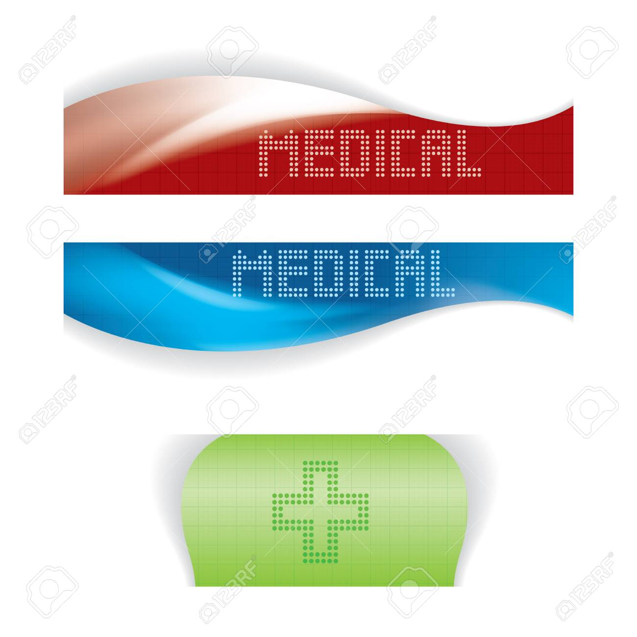 Set of medical banners or website headers Stock Vector - 24873031