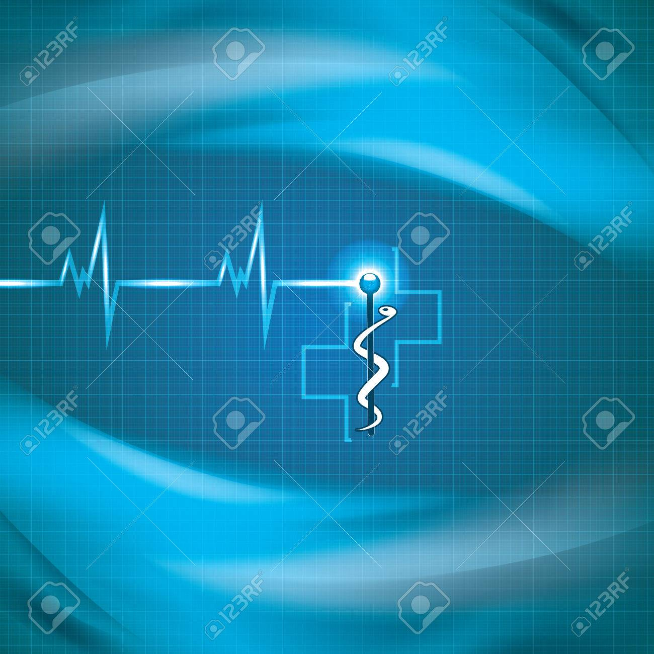 Abstract medical cardiology ekg background Stock Vector - 24873101