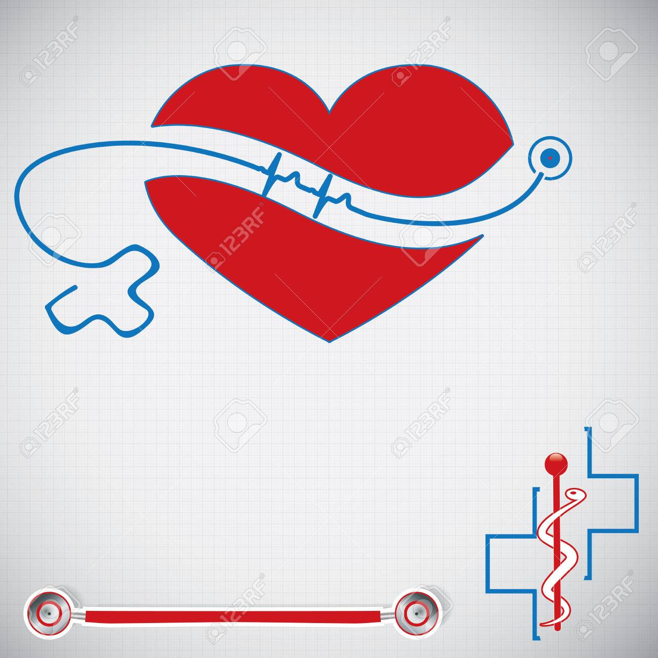 Abstract medical cardiology ekg vector background Stock Vector - 27344696