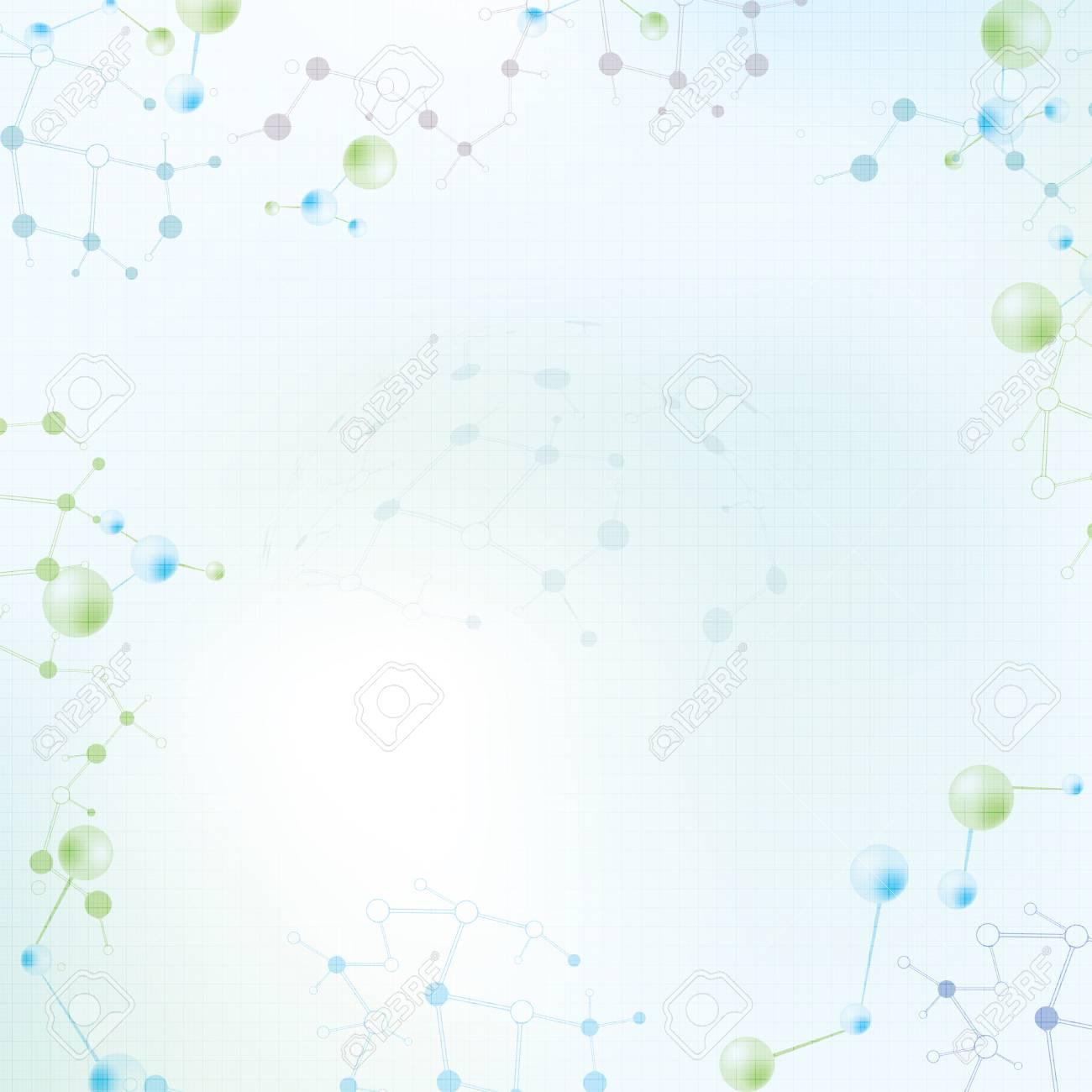 Abstract molecule background Stock Vector - 27455546