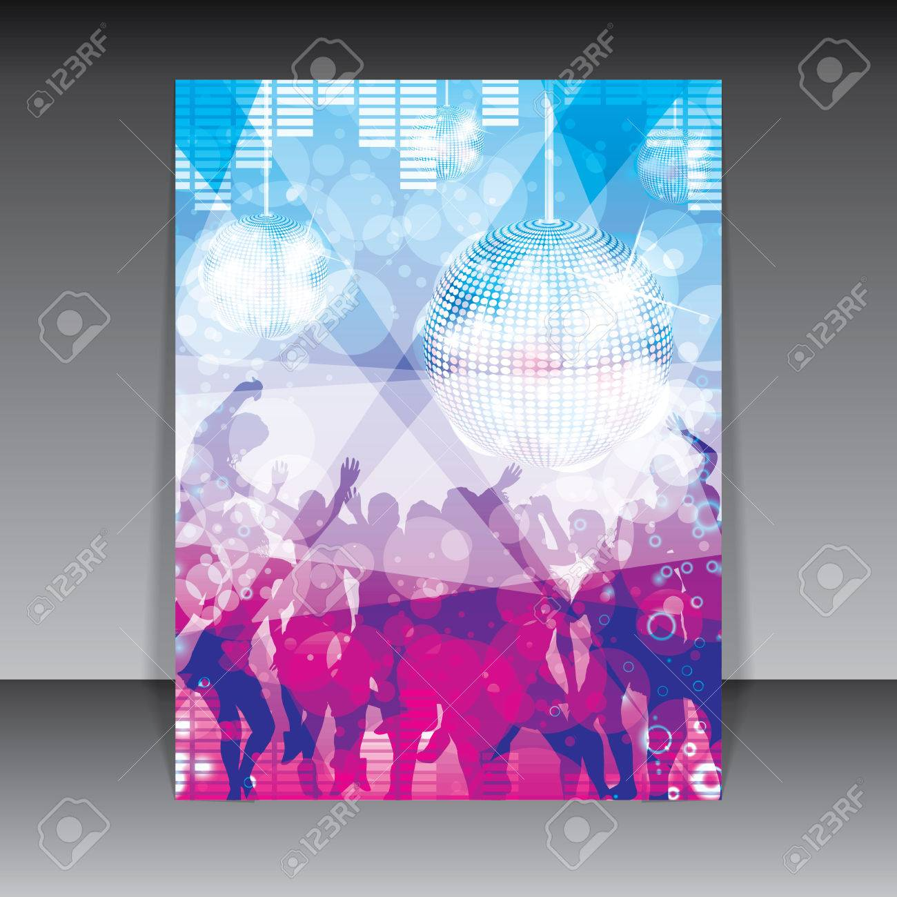 Disco Party colorful Background - 27865896