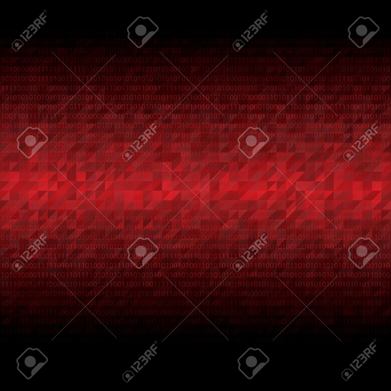 Abstract tech binary red background - 45061423