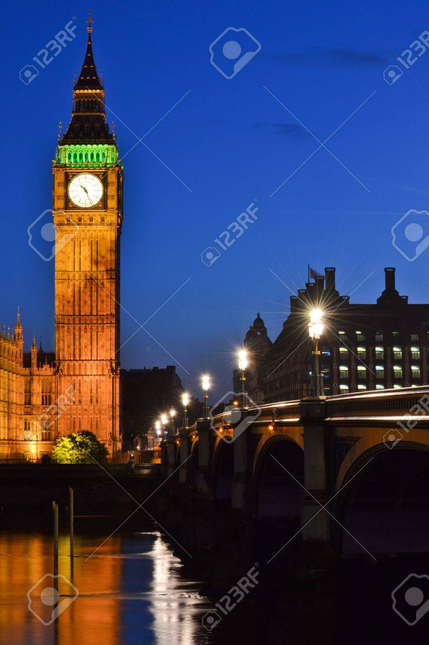 A Night Scene Of One The Most Famous Places In Europe Big Ben And