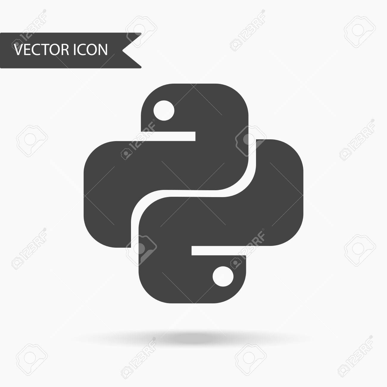 Vector Illustration Of An Icon Of The Python Programming Language ...