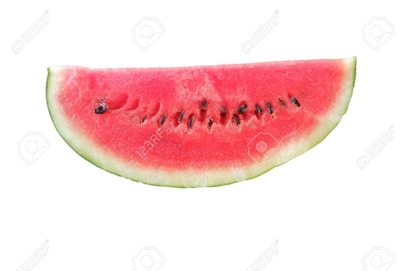 Fresh chopped watermelon on a white background - 134020436