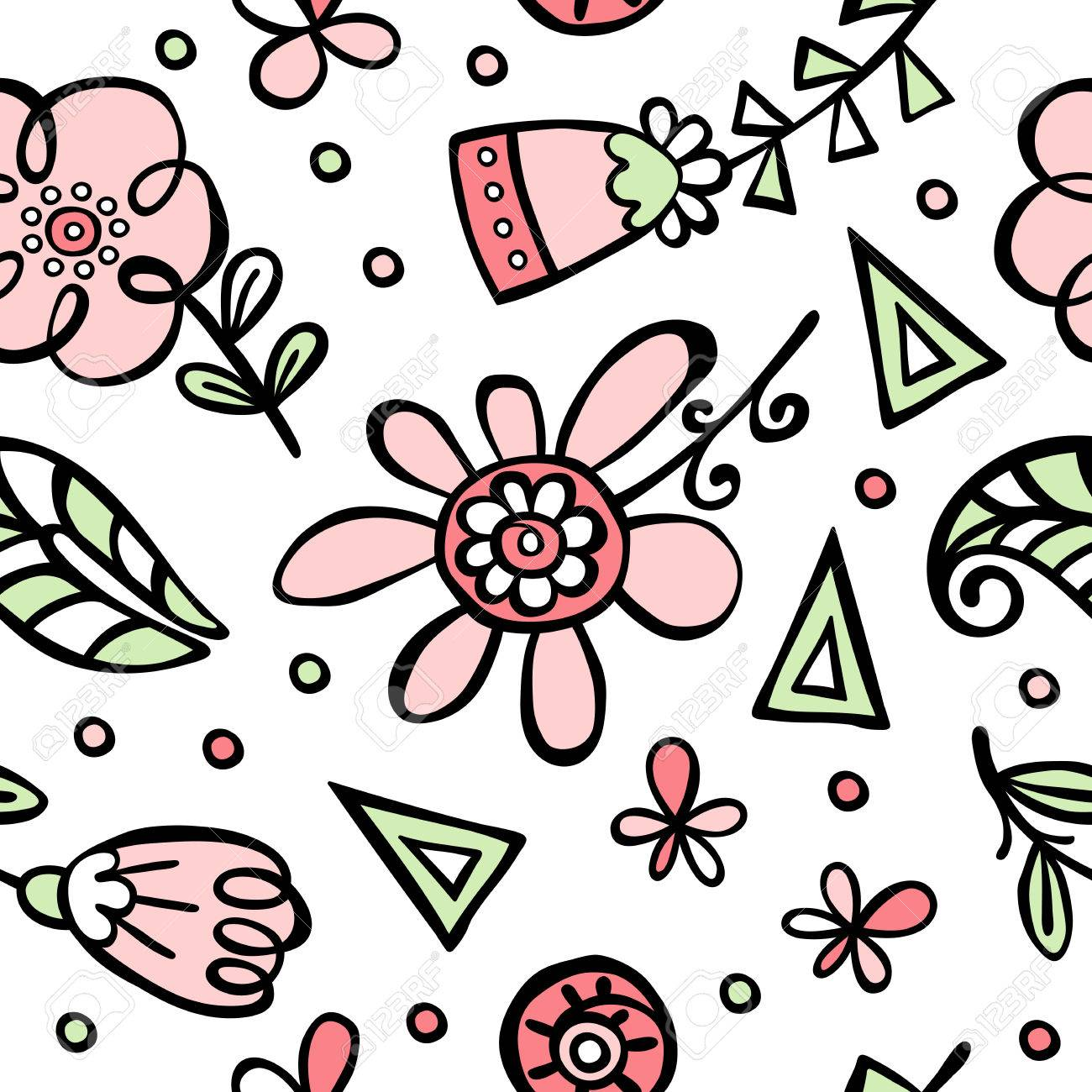 flower pattern flowers and leaves vector seamless pattern rh 123rf com vector flower pattern free download vector flower pattern free download