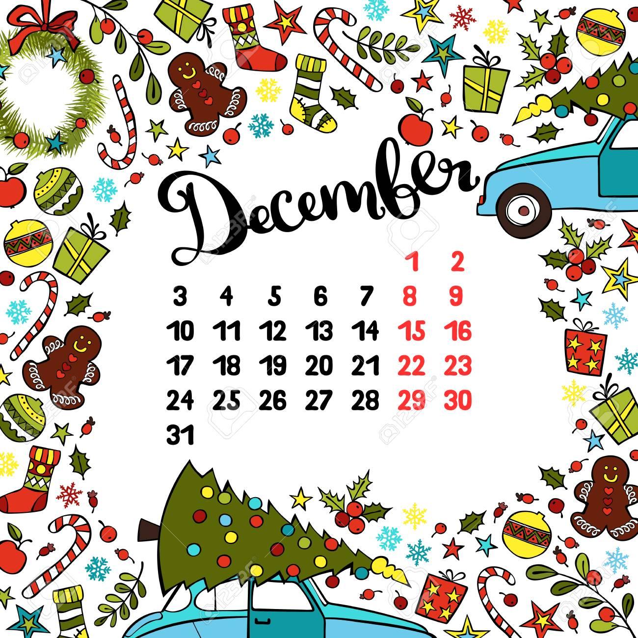12 月カレンダーの月のデザイン のイラスト素材 ベクタ Image 0018